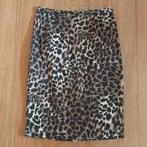 Michael Kors Leopard Pencil Skirt
